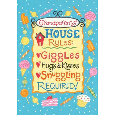 Grandparents' Rules - Garden Flag - FlagsOnline.com by CRW Flags Inc.