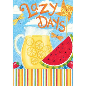 Lazy Days Lemonade - House Flag - FlagsOnline.com by CRW Flags Inc.