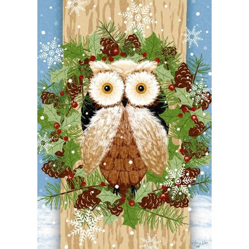 Woodland Owl - Garden Flag - FlagsOnline.com by CRW Flags Inc.