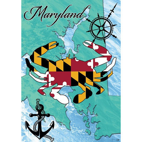 Maryland Crab - House Flag - FlagsOnline.com by CRW Flags Inc.