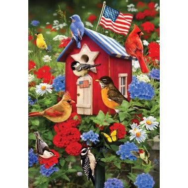Patriotic Birdhouses - Garden Flag - FlagsOnline.com by CRW Flags Inc.