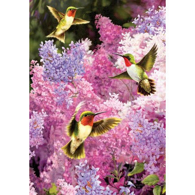 Lilac Hummers - Garden Flag - FlagsOnline.com by CRW Flags Inc.