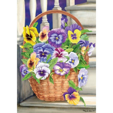 Pansy Steps - Garden Flag - FlagsOnline.com by CRW Flags Inc.