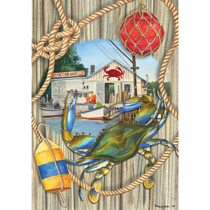 Crab Shack - Garden Flag - FlagsOnline.com by CRW Flags Inc.