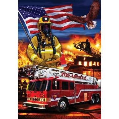 Firefighters - House Flag - FlagsOnline.com by CRW Flags Inc.