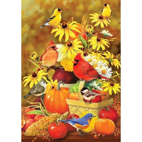 Autumn Songbirds - Garden Flag