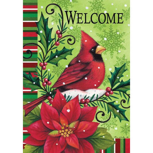 Welcome Cardinal - Garden Flag - FlagsOnline.com by CRW Flags Inc.