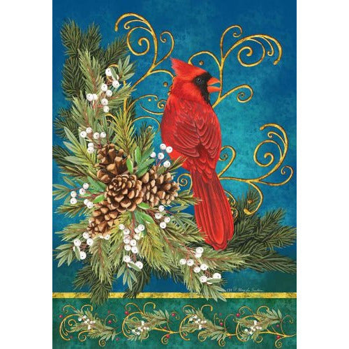 Winter Cardinal - House Flag - FlagsOnline.com by CRW Flags Inc.