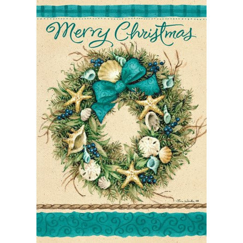 Coastal Wreath - Garden Flag - FlagsOnline.com by CRW Flags Inc.