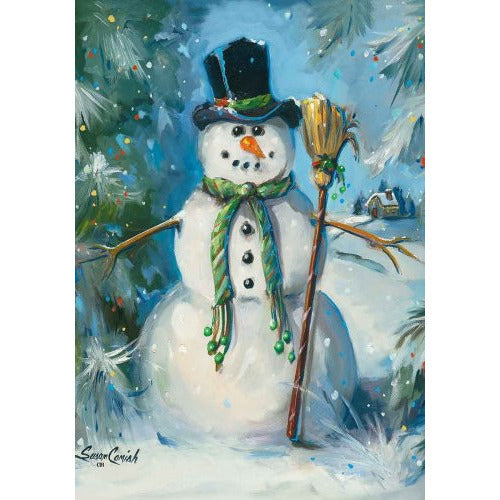 Top Hat Snowman - House Flag - FlagsOnline.com by CRW Flags Inc.