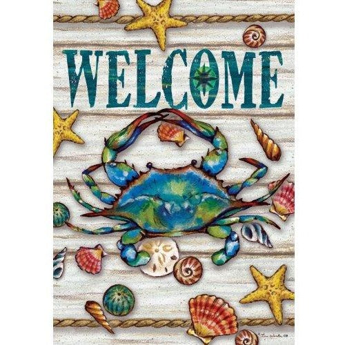 Blue Crab Welcome II - House Flag