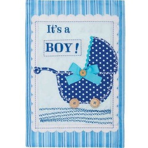 It's A Boy - Buggy - Garden Flag