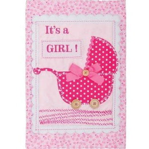 It's A Girl - Buggy - Garden Flag
