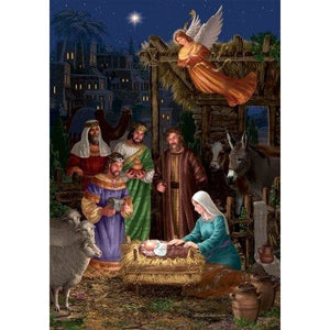 Angel Nativity - House Flag