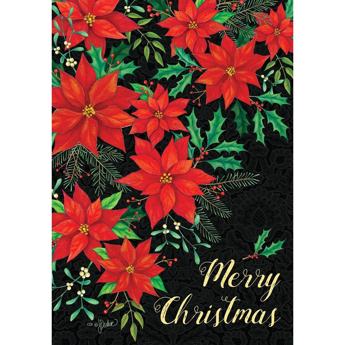 Christmas Poinsettia - House Flag