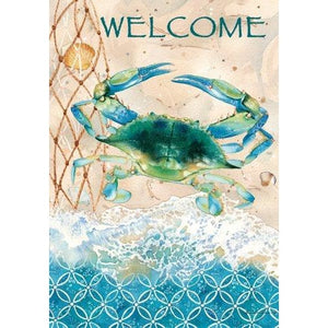 Blue Crab Net - Garden Flag