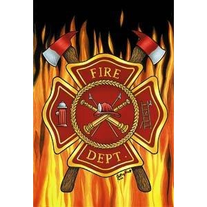 Fire Dept - Garden Flag