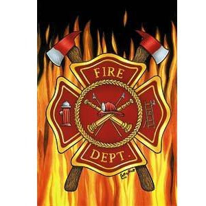 Fire Department - House Flag - FlagsOnline.com by CRW Flags Inc.