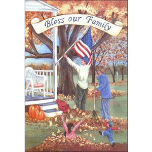 Bless Our Family - House Flag - FlagsOnline.com by CRW Flags Inc.