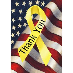 Thank You Ribbon - House Flag - FlagsOnline.com by CRW Flags Inc.