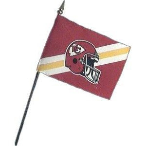 Kansas City Chiefs 4x6in Stick Flag