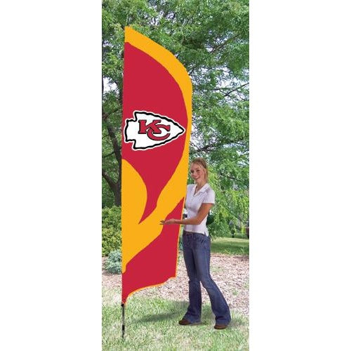 Kansas City Chiefs 8ft Feather Sewn Flag Kit