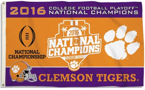 Clemson University 2016 Champs 3x5ft Flag