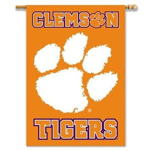 Clemson University House Flag 2 Sided