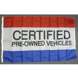 CERTIFIED PRE-OWNED VEHICLES 3x5' Nylon Flag - FlagsOnline.com by CRW Flags Inc.