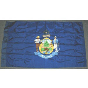 Maine 3x5' Nylon Flag with pole sleeve - FlagsOnline.com by CRW Flags Inc.