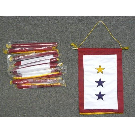 "12x18"" Sewn Service Star 3-Star Banners - FlagsOnline.com by CRW Flags Inc."