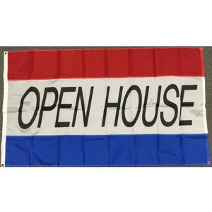 OPEN HOUSE 3x5' Nylon Flag - FlagsOnline.com by CRW Flags Inc.