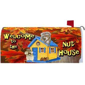 Welcome Nuthouse Standard Mailbox Cover