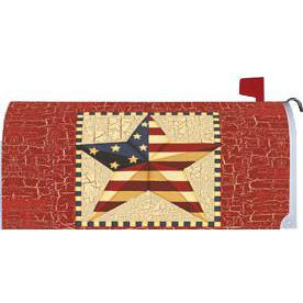 Barn Star Americana Standard Mailbox Cover - FlagsOnline.com by CRW Flags Inc.