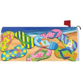 Flip Flop Beach Standard Mailbox Cover - FlagsOnline.com by CRW Flags Inc.