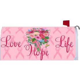Love Life Hope Standard Mailbox Cover - FlagsOnline.com by CRW Flags Inc.
