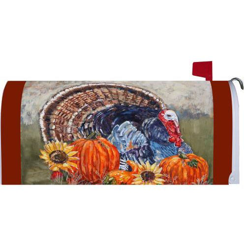 Thanksgiving Turkey Standard Mailbox Cover - FlagsOnline.com by CRW Flags Inc.