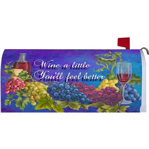 Wine A Little Standard Mailbox Cover - FlagsOnline.com by CRW Flags Inc.