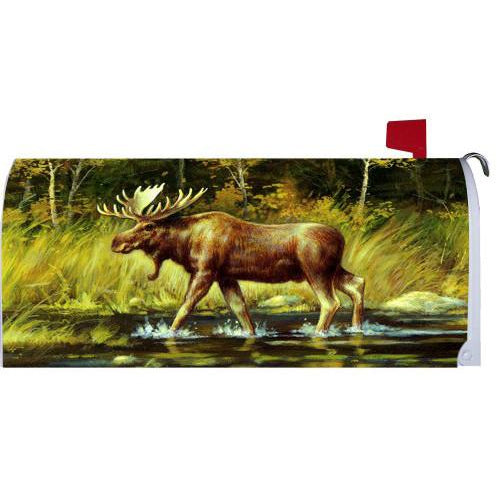 Wading Moose Standard Mailbox Cover - FlagsOnline.com by CRW Flags Inc.