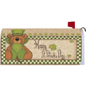 St. Pat's Bear Standard Mailbox Cover - FlagsOnline.com by CRW Flags Inc.