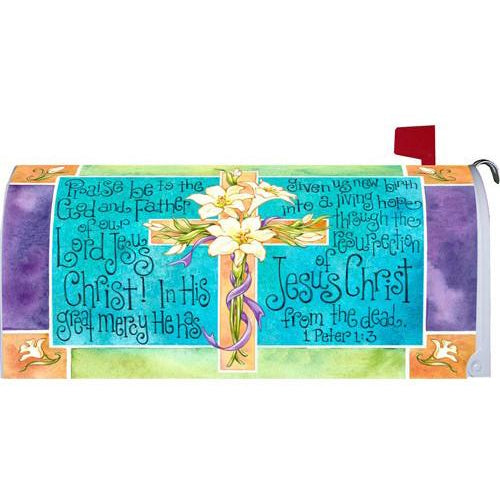 Easter Cross Standard Mailbox Cover