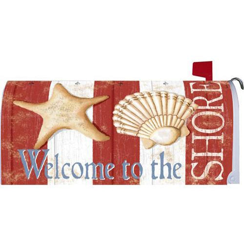 Shore Welcome Standard Mailbox Cover - FlagsOnline.com by CRW Flags Inc.