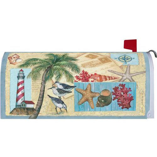 Coastal Letters Standard Mailbox Cover - FlagsOnline.com by CRW Flags Inc.