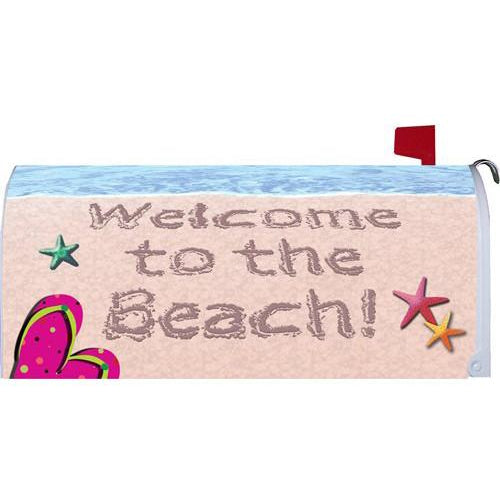 Welcome To The Beach Standard Mailbox Cover - FlagsOnline.com by CRW Flags Inc.