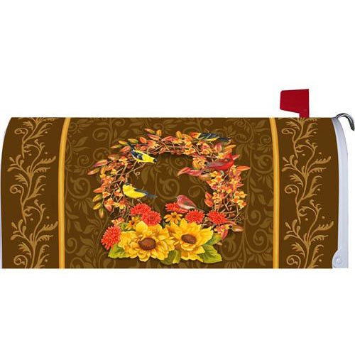 Songbird Wreath Standard Mailbox Cover - FlagsOnline.com by CRW Flags Inc.