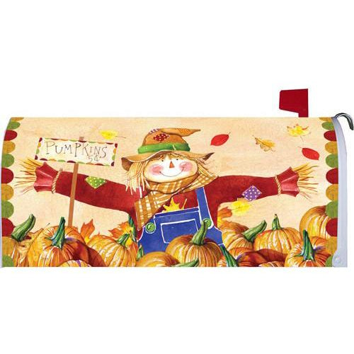 Pumpkin Patch Scarecrow Standard Mailbox Cover - FlagsOnline.com by CRW Flags Inc.