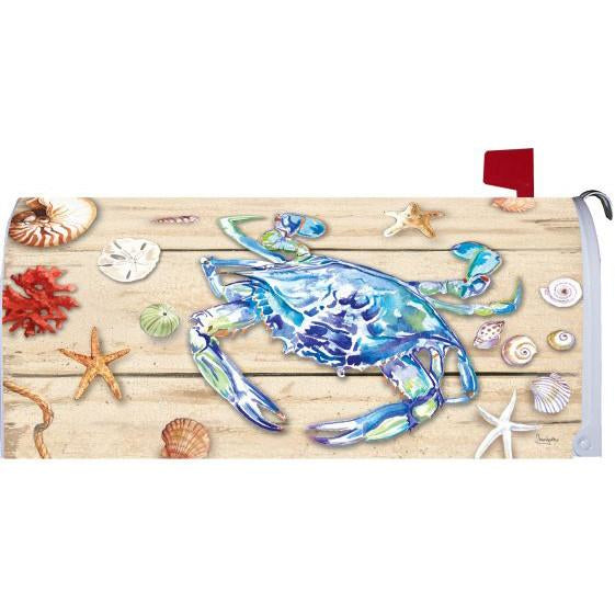 Blue Crab Welcome Standard Mailbox Cover