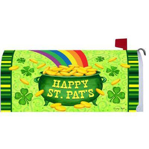 Pot of Gold Standard Mailbox Cover - FlagsOnline.com by CRW Flags Inc.