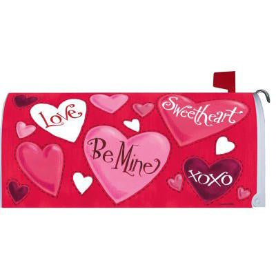 Valentine Hearts Standard Mailbox Cover