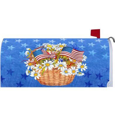 Daisies & Flags Standard Mailbox Cover - FlagsOnline.com by CRW Flags Inc.